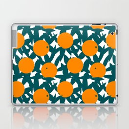 Art Deco Minimalist Orange Grove Laptop & iPad Skin