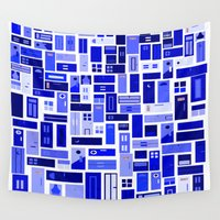 doors Wall Tapestries featuring Doors - Blues by Finlay McNevin