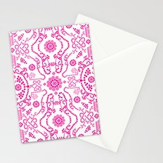 Hot Pink Lace Stationery Cards