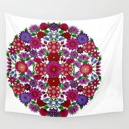 MauindiArts Bouquet Mandala Print Wall Tapestry
