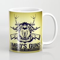 guns Mugs featuring Jimbo's Guns by Silvio Ledbetter