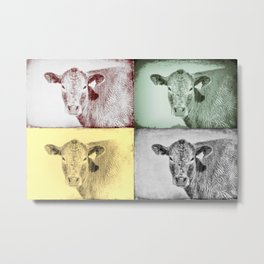 Here's Looking at Moo Metal Print
