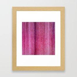 Pink magenta hand painted wood stripes pattern Framed Art Print