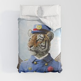 Postmaster Trenton Tigre on his Appointed Rounds Comforters