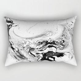 // MARBLED WHITE // Rectangular Pillow