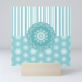 Frosty Snowflakes Coordinate Mini Art Print