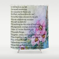 poem Shower Curtains featuring A Mother's Day Poem by Frankie Cat