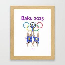 Baku2015 Framed Art Print