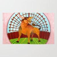 taurus Area & Throw Rugs featuring Taurus by Sandra Nascimento