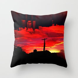 Dreaming On A Train Throw Pillow