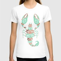 rose gold T-shirts featuring Scorpion – Mint & Rose Gold by Cat Coquillette
