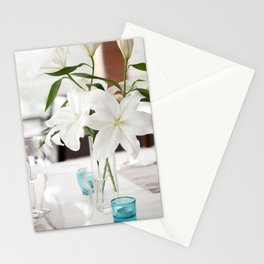 White Lily flowers bridal decoration Stationery Cards