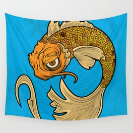 The Disgruntled Koi Wall Tapestry