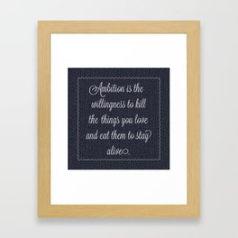 Jack Donaghy's throw pillow from 30 rock Framed Art Print