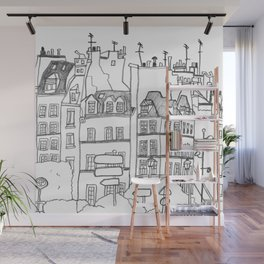 Paris Near Cathedral Notre-Dame Wall Mural