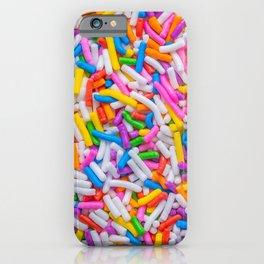 Dessert Rainbow Sprinkles Pattern iPhone Case