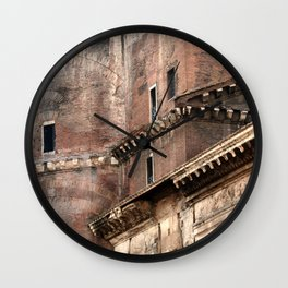 Pantheon of Rome Side View Wall Clock
