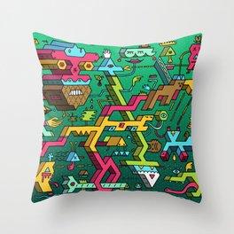 Blockhead Ensemble Throw Pillow
