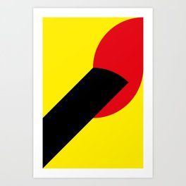 Simple. This is just a Lit Match, in front of a Yellow Sun. Art Print