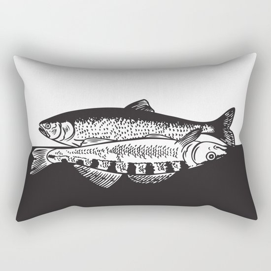 Fishes Rectangular Pillow