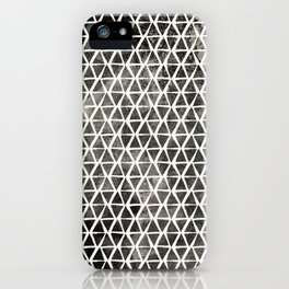 Black Hand-Drawn Triangles iPhone Case