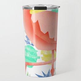 Summer flamingo Travel Mug