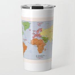 World Political Regional Map (1985) Travel Mug