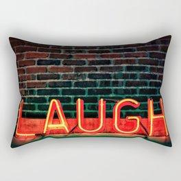 Laugh neon Rectangular Pillow