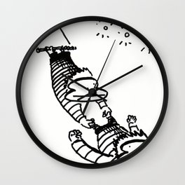 Circus Trapeze Apes Wall Clock