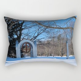 Toledo Botanical Arch in Winter III Rectangular Pillow
