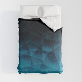Blue and Black Texture Comforters