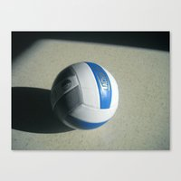 volleyball Canvas Prints featuring Volleyball - S by Keller Arts