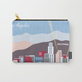 Los Angeles, California - Skyline Illustration by Loose Petals Carry-All Pouch