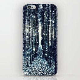 Magical Forest Teal Gray Elegance iPhone Skin