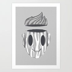 Wooden Head Boy Art Print