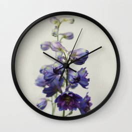 Delphinium Wall Clock