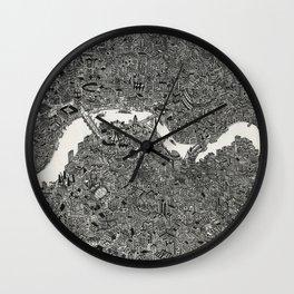 London map print Wall Clock