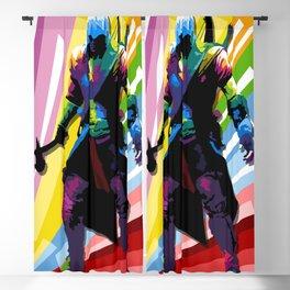 assassins game poster Blackout Curtain