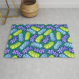 Mitochondria in Cool Colors Rug