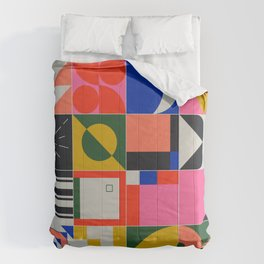 Abstract Geometric Composition 069 Comforters