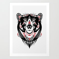 American Indian bear Art Print