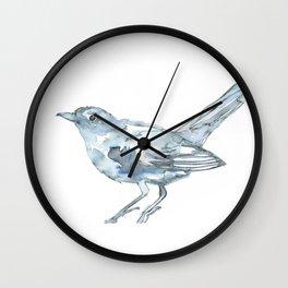 Nightingale Watercolor Sketch Wall Clock