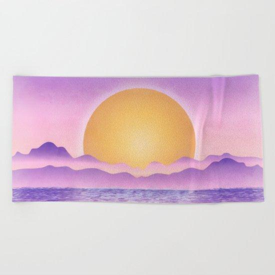 Sunset - purple variation Beach Towel