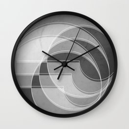Spacial Orbiting Spiral in Charcoal Gray Wall Clock