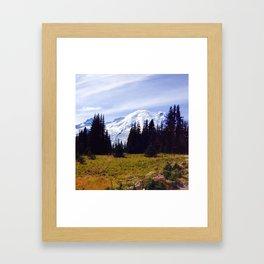 Mt. Rainier in Fall Framed Art Print