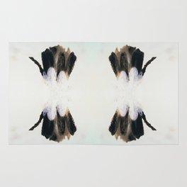 Tenderness - Black and White Rug