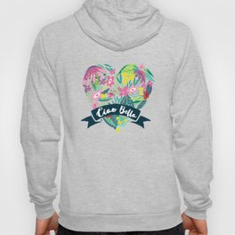 Floral Heart Ciao Bella Typography Hoody