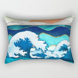 Stormy Waters Rectangular Pillow