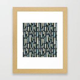vertical stones Framed Art Print
