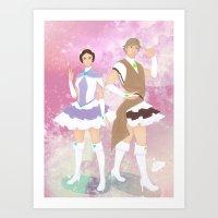 Magical Skywalker Twins Art Print